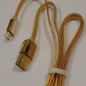 Mobile Charging Cable Golden